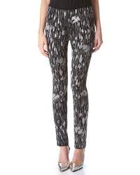 Wes Gordon Embroidered Tulle Cigarette Pants - Black