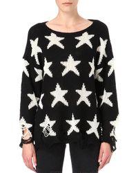 Wildfox Seeing Stars Jumper Black - Lyst