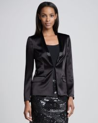 Aidan Mattox - Tuxedo Jacket with Sequined Lapels - Lyst