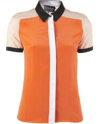 Antipodium Vector Color Block Shirt - Orange