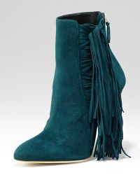 Brian Atwood - Pipi Suede Fringe Ankle Boot - Lyst