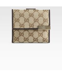 Gucci Dice French Flap Wallet - Lyst