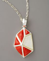Kara Ross - Faceted Coral Pendant Necklace Large - Lyst