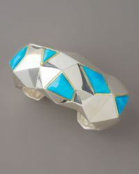 Kara Ross - Faceted Turquoise Cuff Large - Lyst