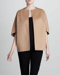 Michael Kors Wool Cape Jacket Suntan - Lyst