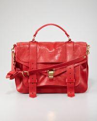 Proenza Schouler Ps1 Medium Satchel Bag Red - Lyst