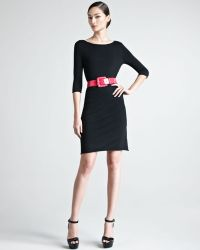 Ralph Lauren Black Label - Womens Threequartersleeve Fine Knit Dress - Lyst