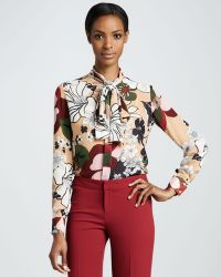Raoul Bowie Printed Cotton And Silk-blend Top - White