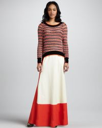 Skaist Taylor Colorblock Full Maxi Skirt - Lyst