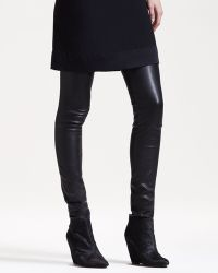The Row Stretchleather Motorcycle Leggings black - Lyst