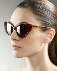 Tom Ford Nikita Cat Eye Sunglasses brown - Lyst
