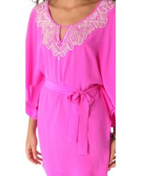 Twelfth Street Cynthia Vincent Embroidered Caftan - Pink
