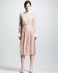 Valentino Pleated Chiffon Skirt - Lyst
