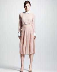Valentino Pleated Chiffon Skirt - Lyst