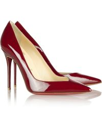 Christian Louboutin Completa 100 Patentleather Pumps - Lyst