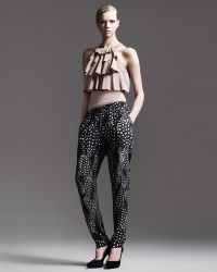 Cut25 by Yigal Azrouël Printed Tapered Pants - Gray