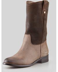 Jimmy Choo Hudson Low Western Boot Havana - Brown