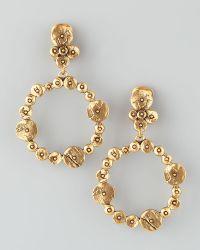 Oscar de la Renta Gypsy Circle Hoop Earrings - Lyst