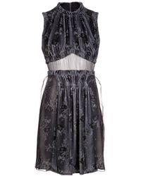 Christopher Kane Velvet Sheer Dress - Lyst