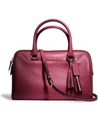 Coach Legacy Leather Haley Satchel with Strap - Lyst