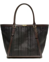 Coach Bleecker Woven Leather Fulton Tote - Lyst
