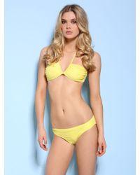 Guess Shout Bandeau Bikini yellow - Lyst