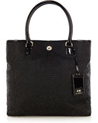 Karen Millen Km By Studded Large Tote - Lyst