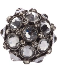 Lanvin Crown Crystal Ring - Lyst