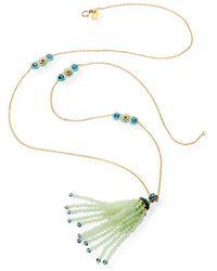 Miguel Ases - Prehnite and Iolite Quartz Tassel Necklace - Lyst