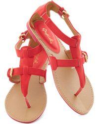 ModCloth Travel Blogger Sandal in Poppy - Lyst