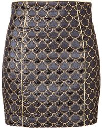Balmain Scalloped Skirt  - Lyst