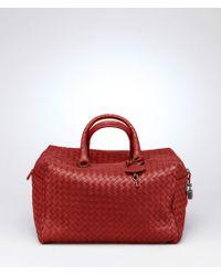 Bottega Veneta Brique Intrecciato Nappa Bag - Red