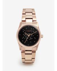 Carat* - Chelsea Rose Gold-tone (black) Watch - Lyst