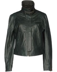 INTROPIA Leather Outerwear - Green