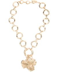 Yves Saint Laurent Vintage Charm Necklace - Lyst