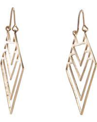 Zoe & Morgan Jett Earrings - Metallic