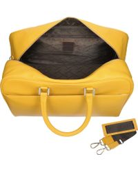 Giorgio Fedon Travel Yellow Leather Rolling Duffle - Lyst
