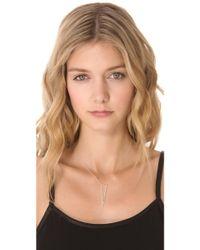 Jennifer Zeuner - Nava Triangle Pendant Necklace with Diamond - Lyst