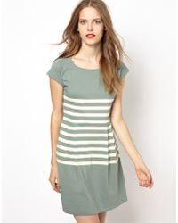 NW3 by Hobbs - Jersey Dress with Placement Stripe - Lyst