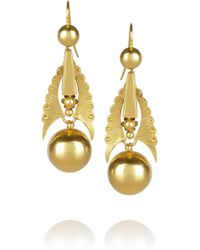 Olivia Collings - 18karat Gold Earrings - Lyst