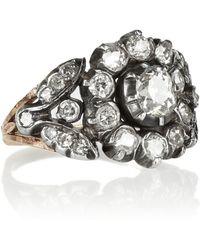 Olivia Collings 18karat Gold Silver and Diamond Ring - Metallic