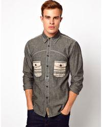 PRPS Prps Goods Jeans Shirt - Grey