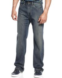 Sean John Hamilton Indigo New World Medium Wash Jeans - Blue