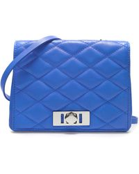 Zara Quilted Messenger Bag with Pocket - Lyst
