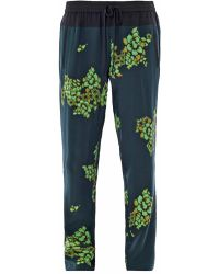 A.L.C. Japanese Floral-print Silk Pants - Green