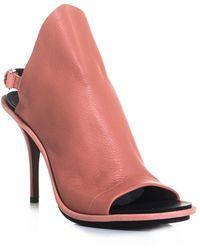 Balenciaga Glove Leather Sling Back Sandals - Lyst