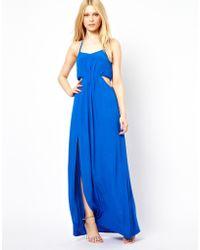 Aryn K. Maxi Dress with Cutout Sides - Lyst