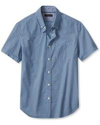 Banana Republic Milly Collection Microprint Shortsleeve Shirt - Lyst