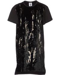 B Store Short Dress black - Lyst