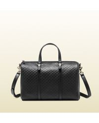 Gucci Nice Microssima Leather Boston Bag - Lyst